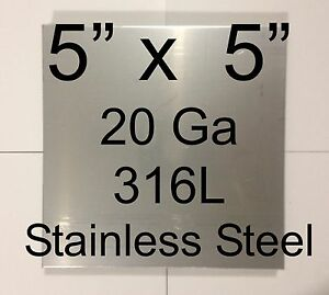 13 Pcs 316l Stainless Steel Plates 5 X 5 20 Ga For Hho Dry wet Cell Free Ship