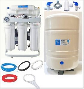 Ro Reverse Osmosis Water Filtration System 150 Gpd 10 G Tank Booster Pump Lc