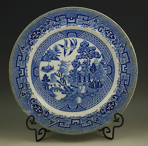 Antique 1886 1900 Grimwades Ye Olde Willow Blue Willow Dinner Plate