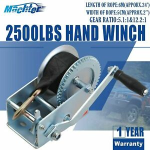 Heavy Duty Winch Cable Hand Winch 2500 Pounds Planetary Gear Standard Hand Crank