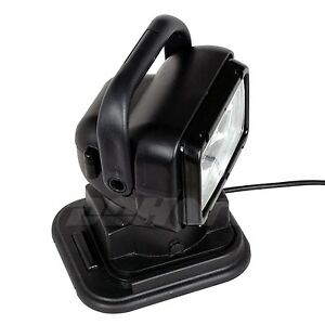 55w Xenon Hid Search Work Light Remote Rotating Handhold Magnetic Truck 24v Led