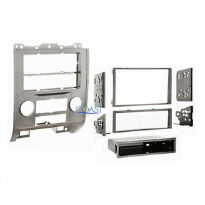 Single Double Din Car Stereo Silver Dash Kit For 2008 2012 Ford Mercury Mazda