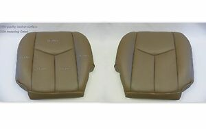 2005 Chevy Silverado Truck Driver And Passenger Bottom Leather Seat Covers Tan