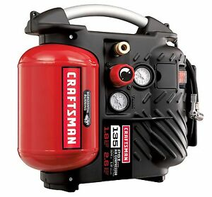 Craftsman 1 2 Gallon Airboss Oil free Air Compressor And Hose Kit 135 Psi