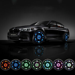 4 Mode 16 Led Car Solar Energy Flash Wheel Tire Neon Light With Remote Control