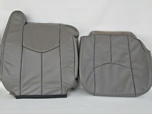 03 06tahoe silverado suburban Leather Pass bottom backrest pewter gray 922