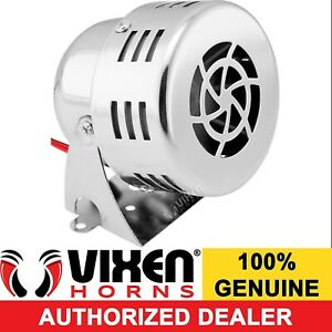 Mini Compact Electric Air Raid Siren Alarm Car Truck 12v Chrome Color Vxs 9060c