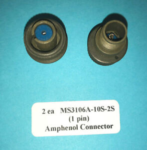 Ms3106a 10s 2s Amphenol Cannon Plug Female 1 Pin Connector 2 New