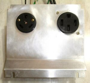 Obsolete Powercraft Pm2 Rv Power Pedestal Receptacle Kit 50 30 Amp Prewired