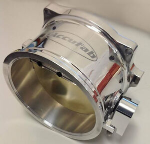 Accufab Universal 125mm Polished Race Throttle Body U125vb V band Clamp