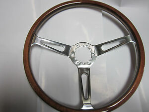 Fiat 124 Spider Light Wood Steering Wheel 380mm With Horn Button