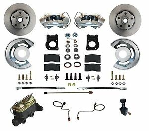 67 68 69 Mustang Falcon Disc Brake Conversion Kit Stainless Steel Pistons