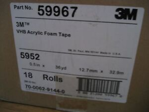 36 Yard 3ft 3m 1 2 Vhb Double Sided Acrylic Foam Adhesive Tape 5952 Automotive