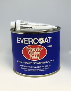 Evercoat Polyester Glazing Putty Quart Fib 400