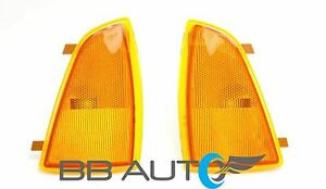 94 97 Chevy S10 Blazer Front Corner Park Signal Side Marker Light Lens Set 2 New