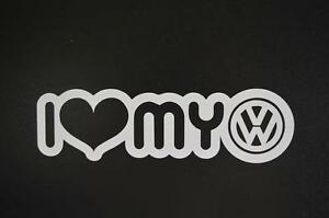 I Love Heart My Volkswagen Vw Jetta Cabrio Cc Window Sticker Vinyl Decal 361