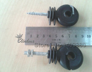 Screw Using In Electric Fence Wood Timber Post Insulators Tape Cord Wire Fence