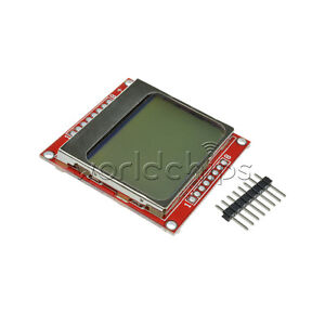 84 48 Lcd Module White Backlight Adapter Pcb For Nokia 5110