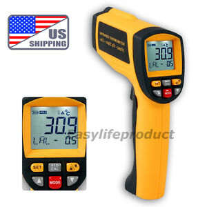 Us 50 1 Digital Infrared Thermometer 0 1 1em Pyrometer 1350 c 2462 f Pro Ir