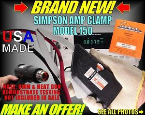 Nib New Simpson Ac Amp Clamp Vom Dmm 500 Amps Current Probe Ammeter