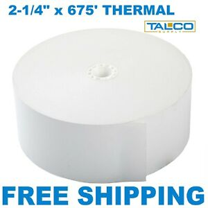 8 Genmega Atm Thermal Receipt Paper Rolls fast Free Shipping