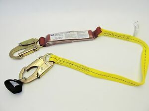 Web Devices Ls200 3 4ss 3 6 Shock sorb Double Lanyard 4ft Fall Arrest System
