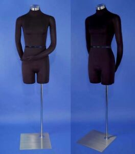 Brand New Black Dress Form Female Mannequin With Flexible Arms F01 sb