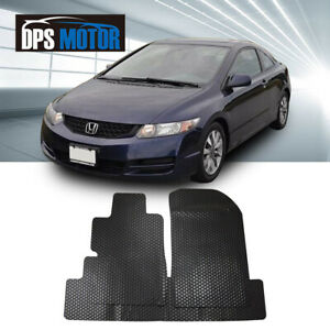 All Weather Black Rubber Floor Mats Liners Front Rear For 06 11 Honda Civic 2d
