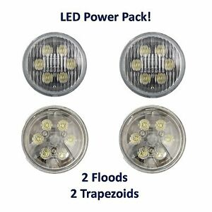 Par36 Round Led Power Pack 2 Flood 2 Trapezoid Beam Tractor Aviation Light Bulbs