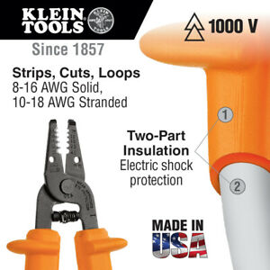 Klein Tools 11055 ins Insulated Kurve Wire Stripper cutter Orange