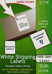 5000 Labels 4 Labels Per Sheet Stamps com Sdc 4650 Compatible 4 x5 Size
