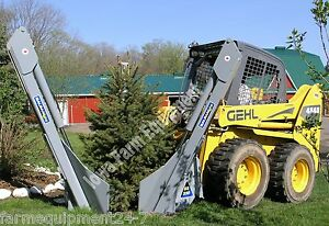 Baumalight Ss330 30 Tree Spade W swingingarm Skidsteers Tractor F e Loaders