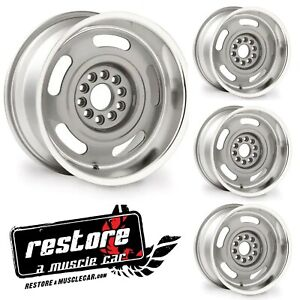 Corvette Rally Wheels 17x9 17 Set Of 4 Silver Powdercoated 5 Backspacing Gm