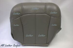 2000 Chevy Silverado 1500 2500 Lt Ls Driver Bottom Leather Seat Cover Gray