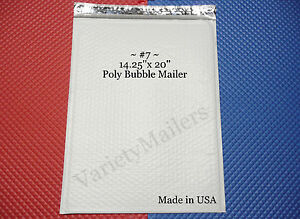 50 Extra Large Poly Bubble Postal Mailing Envelopes 7 14 25 X 20 Made In Usa