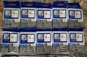 10 Pack Compatible Brother P touch Tz 231 Tze 231 12mm 1 2 Label tape Black Ink