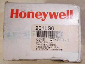 New Honeywell Micro Switch Limit Switch 201ls6 Same Day Shipping
