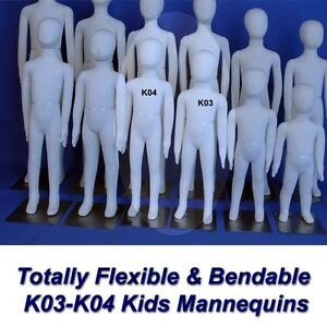Two New White K03 K04 Totally Flexible And Bendable Arms And Legs Mannequins
