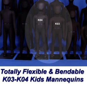 Two New Black K03 K04 Totally Flexible And Bendable Arms And Legs Mannequins