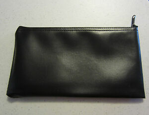 12 Black Vinyl Zipper Bank Bags Money Jewelry Pouch Coin Currency Wallet Coupons