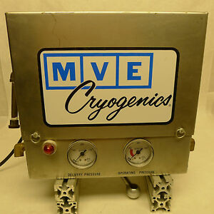 Mve Cryogenics M45 Manifold Good Condition Stainless Steel Cabinet