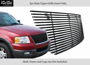 For 2003 2006 Ford Expedition Black Stainless Steel Billet Grille Insert