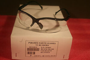 Pyramex V2 Readers Sb1810r20 High Impact Safety Glasses Clr 2 0 Lens Box Of 5