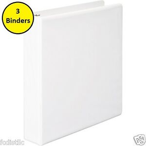 3 Wilson Jones Basic Vinyl View Binders D ring 1 1 2 Inch White