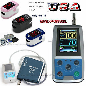 Us 24 Hours Ambulatory Blood Pressure Monitor upper Arm pc Sw usb Nibp oximeter
