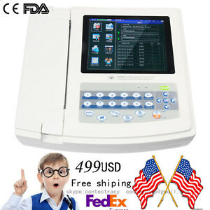 Us Digital 12 lead 12 channel Electrocardiograph Ecg ekg Machine interpretation