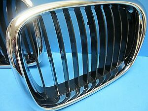Front Hood Grill Passenger Side Replace Bmw Oem 51137005838 Chrome Black
