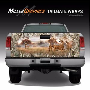 Whitetail Buck Deer Camo Obliteration Truck Tailgate Vinyl Graphic Decal Wrap
