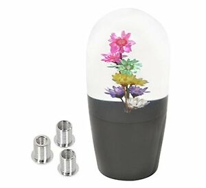 Universal 90mm Multi Color Flower Clear Shift Knob Screw On Interchangeable Usa