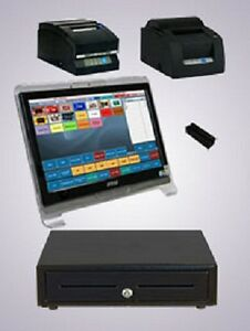 Restaurant Touchscreen Pos System Dell Optiplex P4 Monitor Cash Drawer Printers